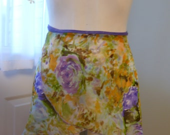 Ballet dance floral wrap rehearsal skirt size small medium