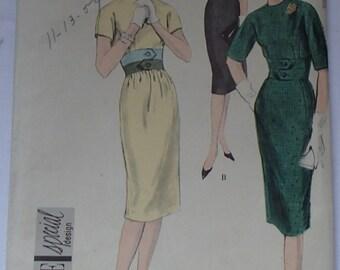 Vintage Vogue Special Design Dress Pattern #4991 1959
