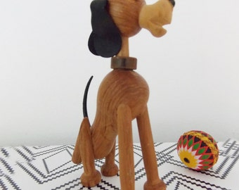 Danish modern Dog figurine / 1950s animal wood sculpture / mid century wood dog / Bojesen hans Bolling style