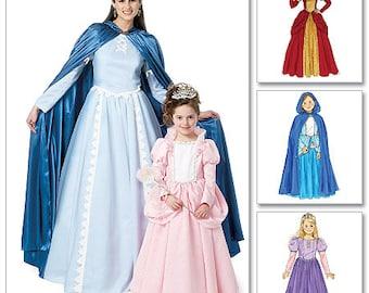 Misses Victorian Dress & Cape pattern - Costume Pattern - McCalls M6420 Sewing Pattern Sizes 8/10 - 12/14 - 16/18 - 20/22