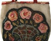Rose Tote Bag rug hooking pattern