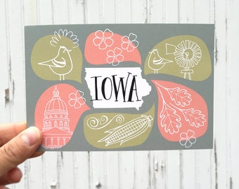 POSTCARD: Iowa Bubbles