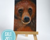 ON SALE | Original ACEO Brown Bear, Wildife, Nature Art by Lisa Marie Robinson