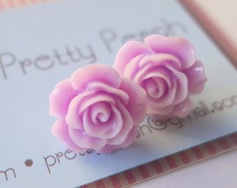 Lavender Rose  earrings