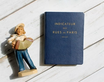 1962 Paris Street Guidebook, Indicateur des Rues de Paris, Vintage Paris Travel Guide, Paris Map Book, French Travel Guide
