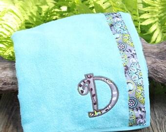 Aqua - Spa Wrap Towel with SNAPS - Graduation / BRIDESMAIDS / Girls Trip Gifts / New Mom
