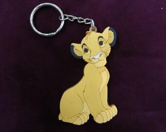 Simba Keychain, The Lion King Keychain, Lion King Movie, Walt Disney World, Vintage Keychain, Vintage Disney Souvenir, Lion Key Ring Key Fob