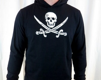 Clearance-- Glow in the Dark Pirate Pullover