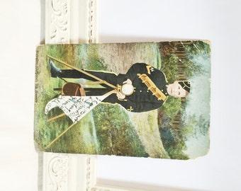 Vintage Military Postcard, Signaller (Corporal) 7th Hussars, Soldier Postcard, English Postcard, English Army, 1906