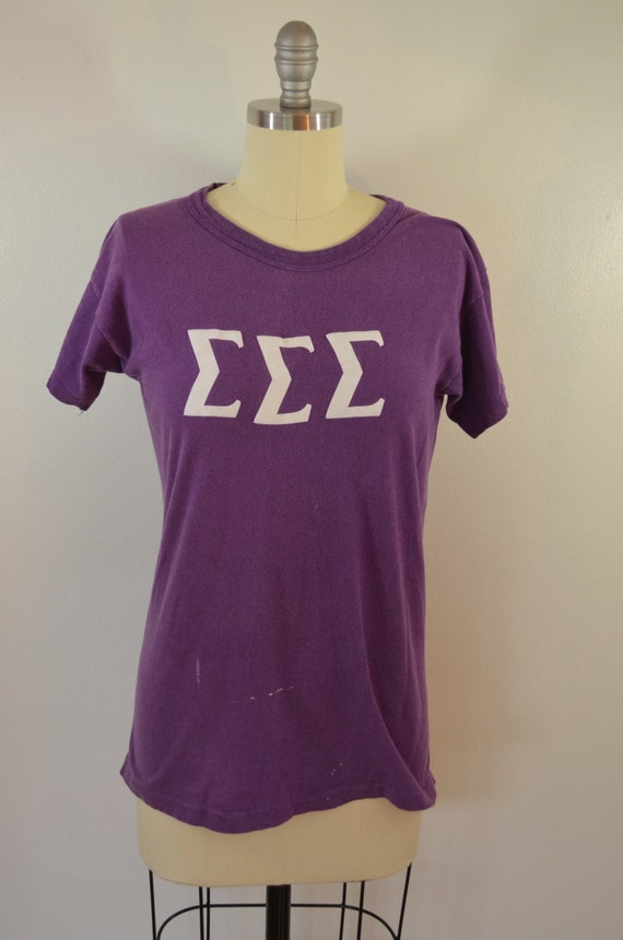 Sale Vintage Sorority T Shirt 1970 39 S Russell By