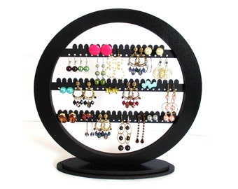 earring holder , earring organizer , Jewelry rack , organizer , round earring stand