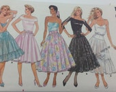 Flared Petticoat and Skirt Pattern Misses size 8 to 18 Butterick 4788
