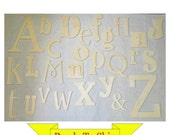Random Wooden Alphabet Set - In Stock and Ready to Ship