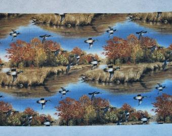 Wood Duck Print Fabric Robert Hautman