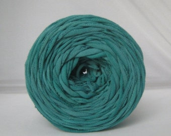 T Shirt Yarn Hand Dyed-  Teal 60 Yards