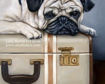 8x10 Don't Forget My Pug...A Place to Bark - Fine Art Giclee Print by LARA