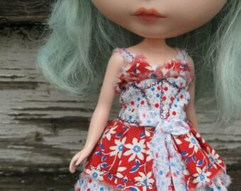 PATTERN Blythe Doll/Susie Sad Eyes Designer Pattern/Tutorial PDF for Dress  by Cindy Sowers - Shabby 2-Tone Corset Style Sundress