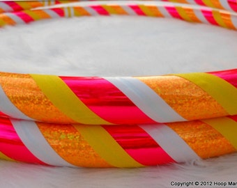NEW - Custom Travel Hula Hoop 'UV Tangerine Dream' - Made YOUR Size. Pro Hoops.
