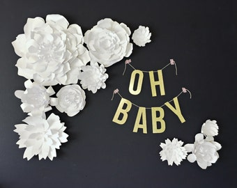 Wedding Paper Flower Backdrop Collection - DIY PRECUT Flowers - Assembly Required