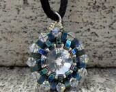 Ironman Pendant -Inspired by the movie, Blue pendant Swarovski Pendant, Arc Reactor Necklace Crystal Pendant
