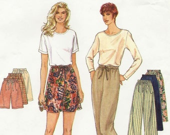 Spring and Summer Pants and Shorts Uncut Sewing Pattern, Simplicity 9435, Its So Easy With Only 3 Pieces to Sew, For Waists 23 to 39 Inches