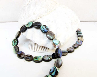 Abalone flat  Oval Jewelry Gemstone Beads