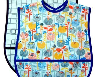 2 Extra Large Adult Bib Set - Choose any 2 Fabrics