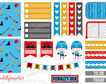 Hockey Kids stickers for Erin Condren Life Planners
