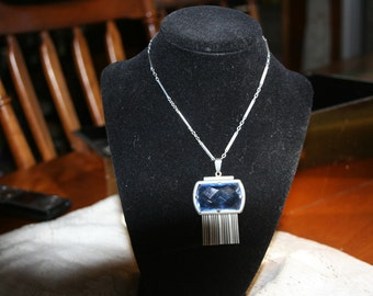 Blue Sterling Silver Necklace