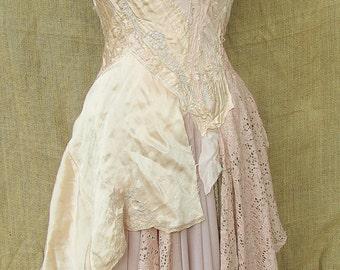 Silk peach dress