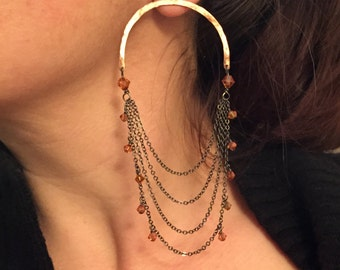 arc swag chandelier earrings