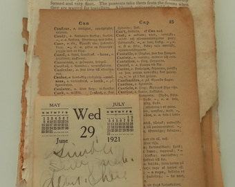 50 Pages of sepia toned vintage paper ephemera bundle
