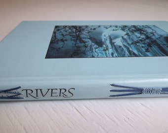 Rivers Watercolor Sketchbook, upcycled vintage book cover filled with 140# watercolor and fine art papers