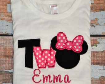 I'm twodles Minnie Mouse, Girls birthday Shirt, 2nd birthday shirt, Two