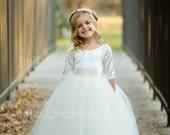 NEW! The Sophia Dress in Ivory - Flower Girl Tutu Dress