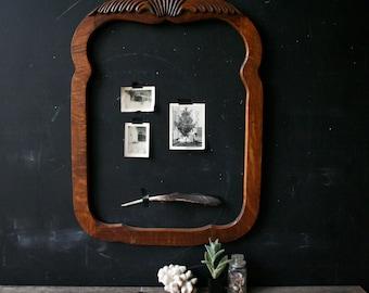 Antique Frame Rustic Home Decor Carved Wood Frame Vintage From Nowvintage on Etsy
