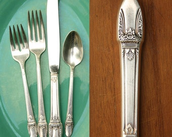 Vintage Place Setting / Silver Plate Flatware / First Love Pattern / 1847 Rogers Bros.