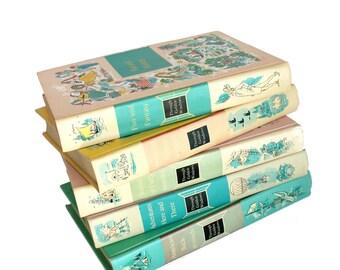 Vintage Through Golden Windows Children's Books Five Volumes Mid Century