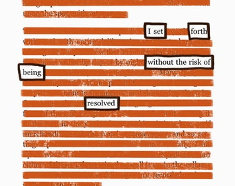 Resolved-Blackout Poetry C-Print by Staunch Studio 8x10