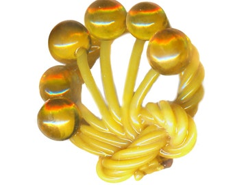 Button--Vintage Weird Celluloid Balls on Stems--Medium
