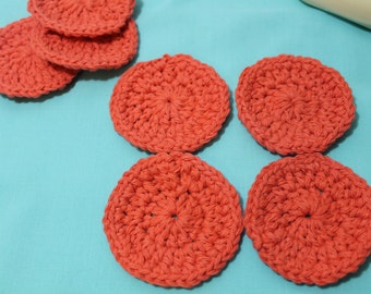 Set of 7 Hand Crocheted Cotton Face Scrubbies FREE SHIPPING