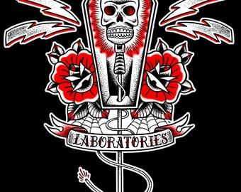 Von Erickson Laboratories Skull Microphone T shirt