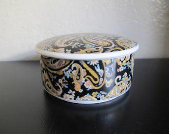 Vintage Ceramic Paisley Box
