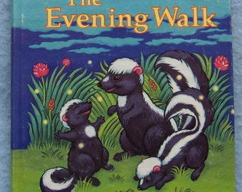 Vintage 1985 tell a tale book THE EVENING WALK