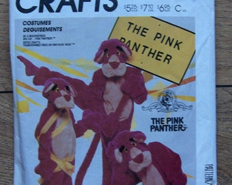 Vintage 1986 sewing pattern McCalls 2748 The PINK PANTHER Costume sz large (40-42) uncut