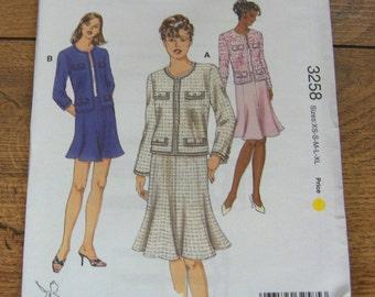 2004 kwik sew pattern 3258 misses jackets and skirts   sz XS-XL uncut