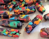 "Fun and Funky ""End of Day"" Venetian Millefiori Beads, Set of 47"