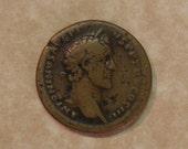 Authentic Ancient Roman Sestertius of Antoninus Pius  Authenticated by David Sear