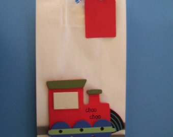 Choo Choo train favor bags, birthday bags, baby shower bags