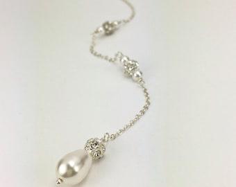 Pearl Long Back Jewelry Wedding Jewelry Long Back Jewelry Bridal Accessory Rachel